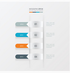 timeline template yellow blue pink color vector image
