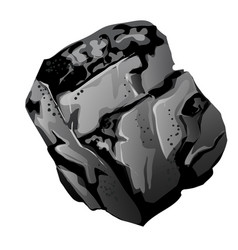 a fragment of stone coal the source of energy and vector image