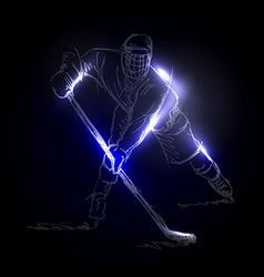 A hockey player vector