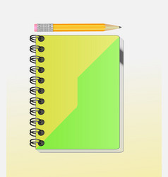a note book with lots of room for your text or ima vector image