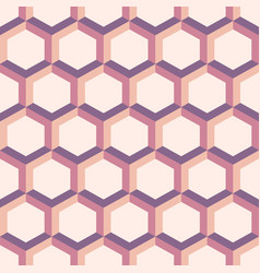 abstract patterns from colorful hexagons vector image