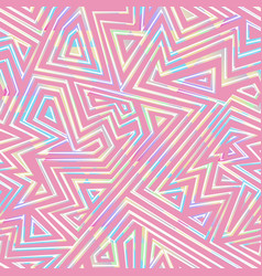 abstract pink maze seamless pattern vector image