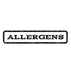 Allergens watermark stamp vector