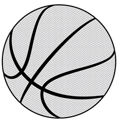 Ball basketball sport isolated equipment game vector