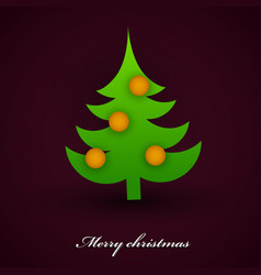 Beautiful christmas tree background vector