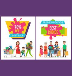 best sale and premium good set vector image
