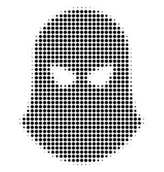 Black pixel terrorist balaklava icon vector