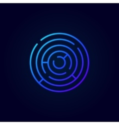 Blue abstract labyrinth icon vector image