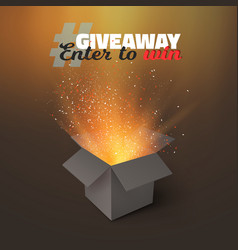 box giveaway competition template vector image