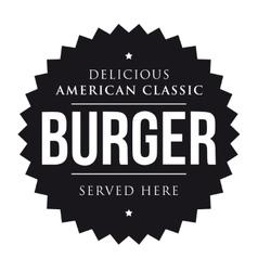 Burger vintage black stamp vector image