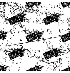 Burning envelope pattern grunge monochrome vector