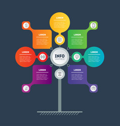 Business presentation concept with 7 points web vector