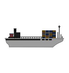 Cargo ship design vector