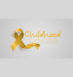 childhood cancer awareness calligraphy poster vector image