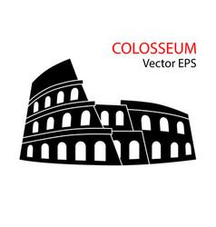 Colosseum rome italy vector