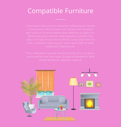 Compatible furniture poster vector