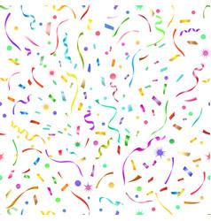 Confetti seamless pattern vector