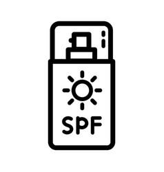 cosmetic sun icon vector image