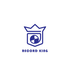 Crowned music logo vector