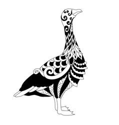 Cute goose vector