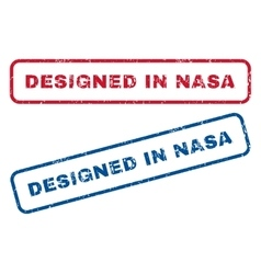 Designed in nasa rubber stamps vector
