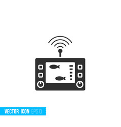 digital gadget fishfinder echo sounder icon in vector image