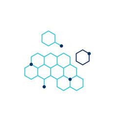 Dna honeycomb icon vector