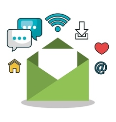 email social media design isolated vector image