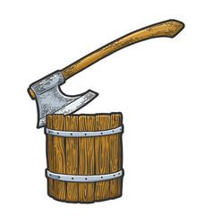 Executioner ax stuck in log sketch vector