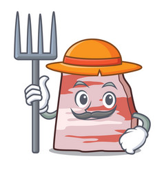 Farmer pork lard character cartoon vector