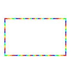 Frame with rainbow for decoration and motley vector