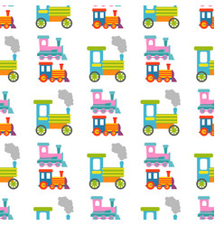 game gift kids train seamless pattern background vector image