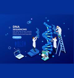 Genetics laboratory biotech banner vector