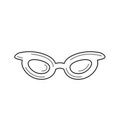 glasses line icon vector image