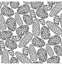 Graphic cones pattern vector