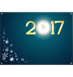 happy new year 2017 with clock abtract background vector image