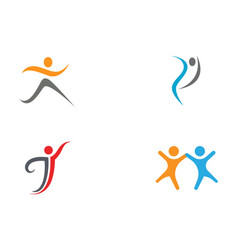 health life logo vector image