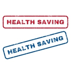 Health Saving Rubber Stamps vector image