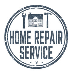 home repair service sign or stamp vector image