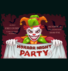 Horror night halloween party creepy vector
