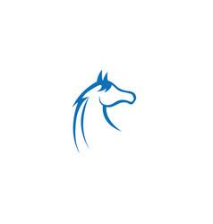 Horse head steed mare logo vector