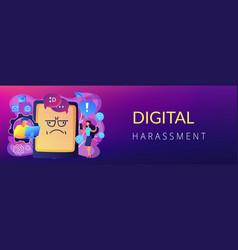 Internet trolling concept banner header vector