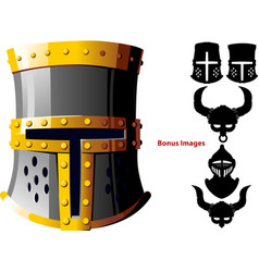 Knights helmet vector