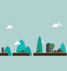 landscape with tree game background vector image