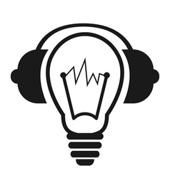 Lightbulb With Headphones vector image