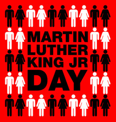 martin luther king day background vector image