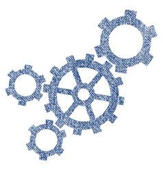 Mechanism fabric textured icon vector