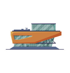 Modern retail store shopping center building vector