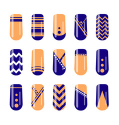 nail art design fingernail polish templates vector image