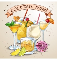 New Era Drinks Coctail menu vector